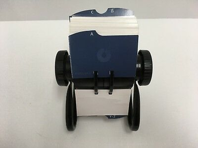 """Rolodex Open Rotary Business Card File with 2 1/2"""" by 4"""" Card Sleeve GUC"""
