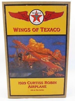 WINGS OF TEXACO - 1929 CURTISS ROBIN ARIPLANE BANK -6th In The Series w/BOX(28C)