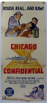 Chicago Confidential BRIAN KEITH BEVERLY GARLAND CRIME FILM NOIR 1957
