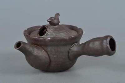 R3401: Japanese Banko-ware Bird sculpture TEAPOT Kyusu Sencha, Tea Ceremony