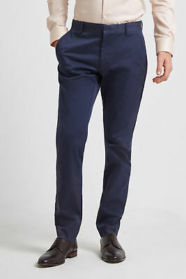 NEW SABA Mens Baxter Chino Pants Cotton Sateen - Slim Fit Casual Fashion Outfit