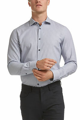 NEW SABA Mens Murphy Tapered Polo Shirt Cotton - Long Sleeve Work Formal Top