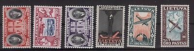 Lithuania 1934 Mi No: 385-390. Darius - Girenas Transatlamtic Flight MNH