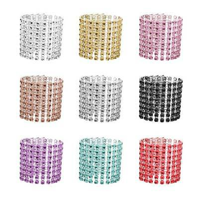 10Pcs Xmas Napkin Ring Mesh Bling Adornment 8 Rows Party Wedding Decor