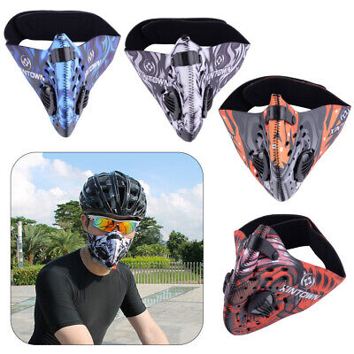 Unisex Activated Carbon Filter Half Face Mask Dust Anti-pollution Outdoor