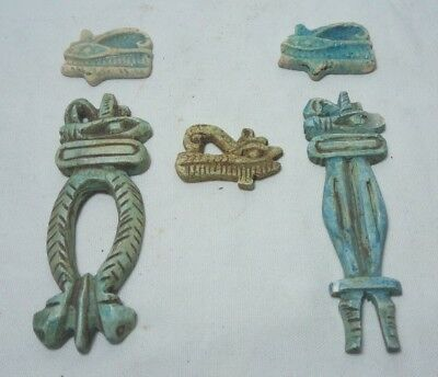 COLLECTION of RARE ANCIENT EGYPTIAN ANTIQUE EYE of HORUS 1700-1200 BC