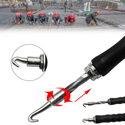 2101 Semi Automatic Construction Tools Rebar Wire Twister Practical Black Steel