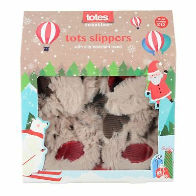 Totes Toasties Kids Reindeer Slippers For Babies & Toddlers From 6 Months
