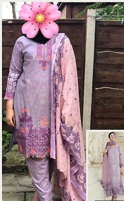 Pakistani/India Maria B 2018 Inspired 3 piece Stitched Lawn  Suit