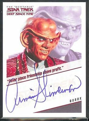 Quotable Star Trek DS9 Auto Armin Shimerman Quark