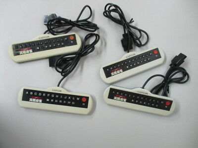 FC Ide Yousuke Jissen Majyan Controller CAPCOM /Yellowed Lot of 4 JP No.7