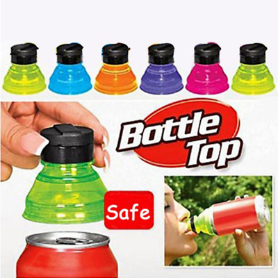 6pcs Covert Drinking Bottle Caps Can Convert Savers Reusable Soda Drink Cover