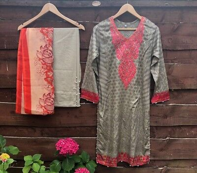 Pakistani/India Maria B Inspired 3 piece Stitched Lawn  Suit