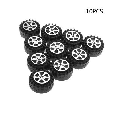 10pcs 13.5mm Aircraft Rubber Tires Wheels Model For DIY RC Toy Car Accessories