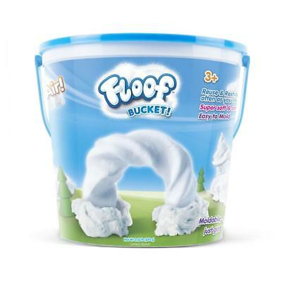 Floof! Large Bucket Fluffy White Reusable Indoor Snow Modelling Clay 240g FL007