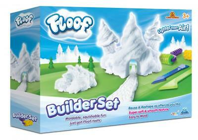 Floof! Builder Set Box Fluffy White Indoor Snow Modelling Clay With Roller FL004