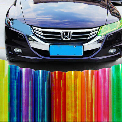 Chameleon Color Tint Vinyl Sticker Headlight Tail lights Film Car Van Light Wrap