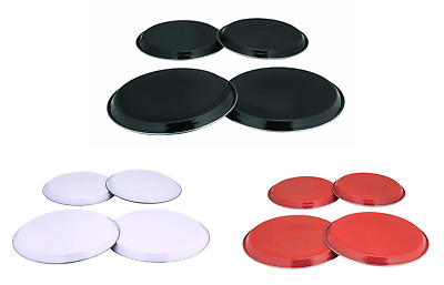 Stainless Steel Hob Cover Set For Kitchen Cookers Ring Protector Purple 4 Piece