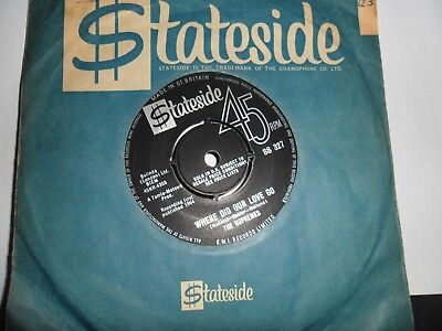 "The Supremes.where Did Our Love Go.stateside.soul Motown.7"" Vinyl.45 Rpm"
