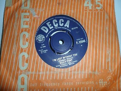 "Billy Fury.i'm Lost Without You.decca.7"" Vinyl Single.45 Rpm"