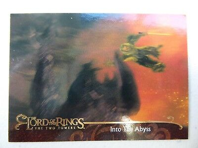 TOPPS Lord of the Rings: The Two Towers - Card #94 INTO THE ABYSS