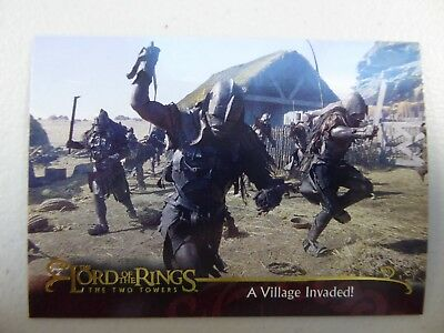 TOPPS Lord of the Rings: The Two Towers - Card #40 A VILLAGE INVADED