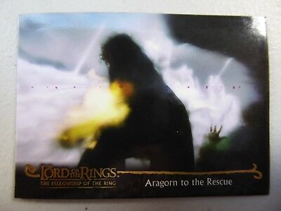 TOPPS Card : LOTR The Fellowship Of The Ring  #120 ARAGORN TO THE RESCUE