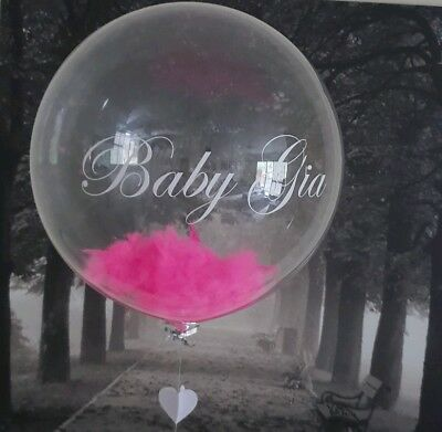 Personalised 3 OR 4 small words Balloon sticker bubble balloons Baptism Birthday