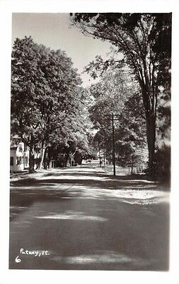 PUTNEY  VERMONT~TREE LINED STREET~REAL PHOTO POSTCARD c1950s