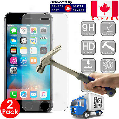 2 Pack - Apple iPhone 6 Genuine Tempered Glass Screen Protector Protective