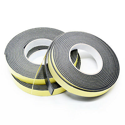 Black EVA Single Sided Self Adhesive Foam Tape Sponge Rubber Strip Door Seal
