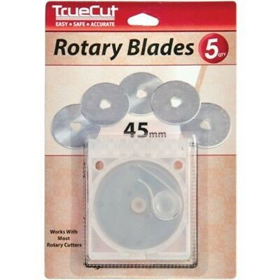 Truecut Rotary Blade Refills 45mm 5/pkg- - Grace Company Replacement Blades 5pkg