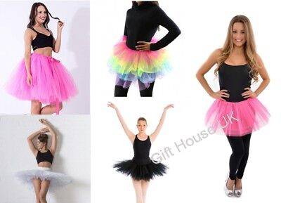 Ladies Girls Kids Pettiskirt Tutu Dancewear Princess Ballet Fancy Dress Party B4
