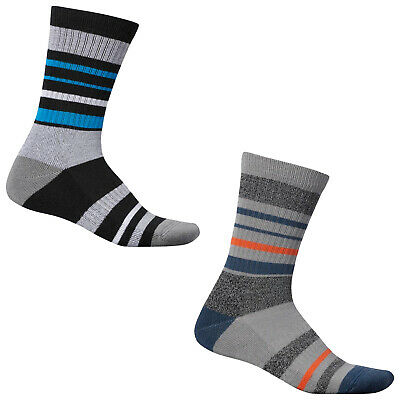 2018 Adidas Mens Wool Stripe Crew Socks - Sports Performance Golf Pair Pack New