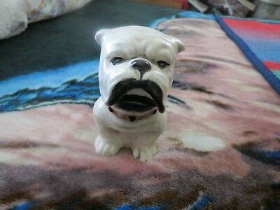 ceramic english bulldog sugar bowl