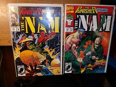 The Punisher Invades The Nam Comics Lot of 2 Parts 1 & 2 No. 67 & 68 Marvel 1992