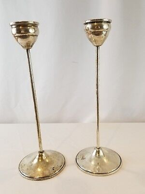 WEIGHTED STERLING SILVER CANDLE STICKS ~ DUNCHIN ~ Modern Design