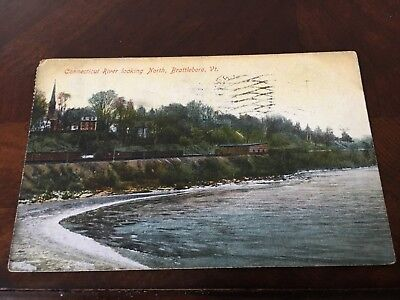 Brattleboro VT  PC CONN. RIVER LOOK NORTH TRAINS 1909