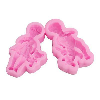 3D Sleeping Baby Bear Fondant Cake Mold Soap Chocolate Candy Silicone Tool 8C