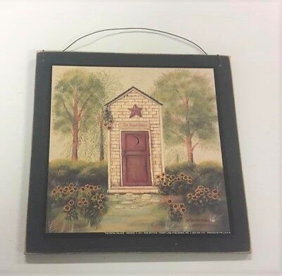 The Royal Palace Outhouse Country Bath Wooden Wall Art Sign Bathroom Decor