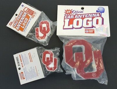 Vintage University of Oklahoma OU Lot of 3 Car Antenna Toppers NCAA Licensed NIP