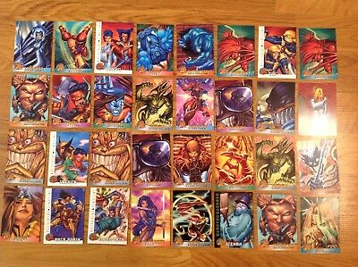 Lot Of 32 X Men 1996 Fleer Marvel Cards Card X-Men