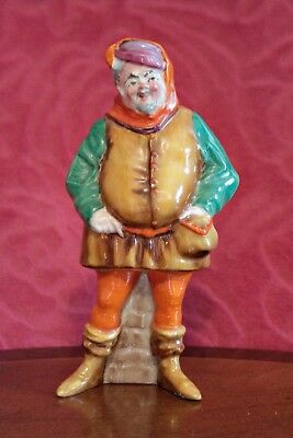 Antique Very Rare English Crown Staffordshire Falstaff Figurine, 1906
