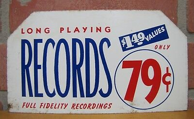 Old LONG PLAYING RECORDS only 79c Sign Full Fidelity Recordings $1.49 Values