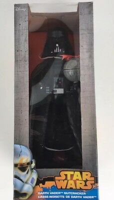 "Disney Kurt Adler Darth Vader with Death Star Nutcracker 10"" Star Wars"