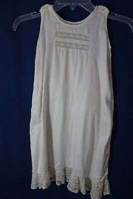 "Victorian Girls' White Slip w/Lace Ruffle- Chest 24"",Lenght 27""- LOVELY- SALE"