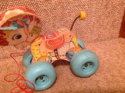 vintage Fisher price Patch Pony  .  # 616 pull toy  .. clackity clack