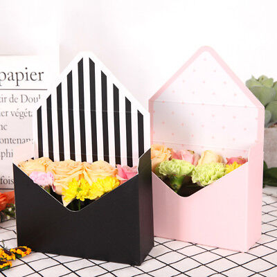 Envelope fold flower box paper flowers wrapping flower gift box party decor  JR