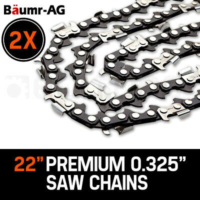 "NEW 2 x 22"" Baumr-AG Chainsaw Chain 22 Inch Bar Replacement 3/8 .058 76DL"