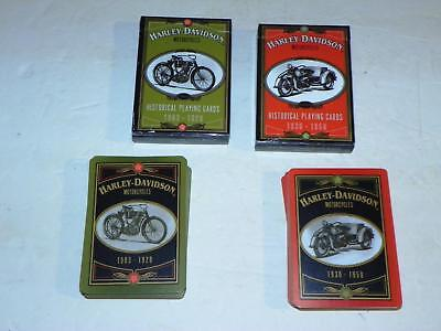 1997 Harley-Davidson Motorcycles Historical Playing Cards: 1903-1929 & 1930-1950